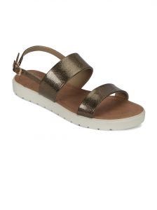 triveni,platinum,jagdamba,flora,avsar Apparels & Accessories - Flora Comfort Footbed Antique Sandal(PF-0141-30)