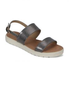 Lime,Flora,Kiara Women's Clothing - Flora Comfort Footbed Grey Sandal(PF-0141-43)