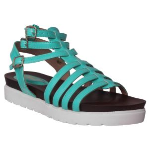 Flora Comfort Green Footbed Sandals (code - Pf-0155-16)