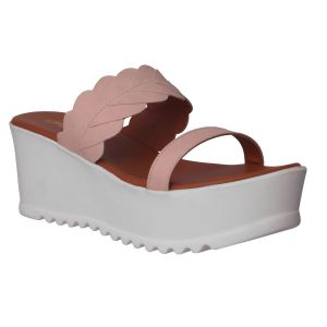 Flora Comfort Wedge Cream Slip On Sandals (code - Pf-1022-03)
