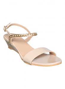 Flora Cream Wedge Sandal (code - Pf-1028-03)