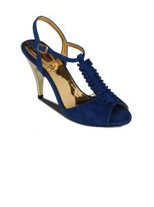 Flora Blue Suede Stiletto Heels Sandal For Women - (product Code - Pf-2001-18)
