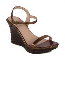 Flora Copper Heeled Wedges Womens Sandal - Pf-2002-23