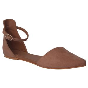 Flora Comfort Flat Cream Pointed Sandals (code - Pf-3028-03)