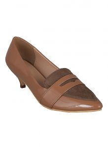 Flora Beige Formal Patent Belly Shoe (code - Pf-5001-04)