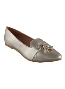 Flora Golden Pointed Belly Shoe (code - Pf-5002-31)