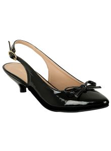 Flora Comfort Black Closed Shoe (code - Pf-5003-01)