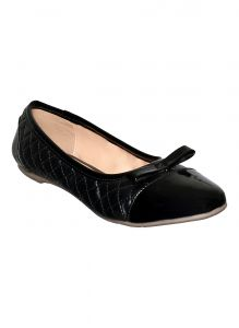 Flora Black Closed Ballerina (code - Pf-6012-01)