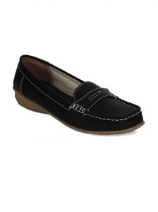 Jagdamba,Clovia,Mahi,Flora Women's Clothing - Torrini Black Closed Loafer Womens Shoe - Y-113-01