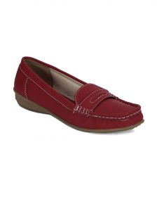 Flora Women's Clothing - Torrini Red Closed Loafer Womens Shoe - Y-113-05