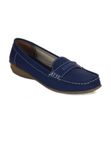 La Intimo,Shonaya,Flora,Sangini Women's Clothing - Torrini Blue Closed Loafer Womens Shoe - Y-113-18