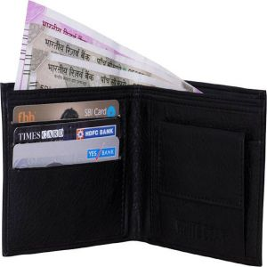 White Bear Leather Black Stylish Mens Wallet