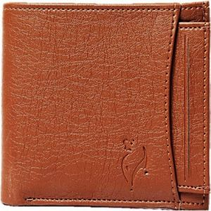 White Bear Artificial Leather Tan Stylish Mens Wallet