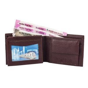 White Bear Men Brown Artificial Leather Wallet