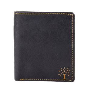 White Bear Men Black Artificial Leather Wallet