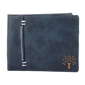 White Bear Artificial Leather Blue Stylish Mens Wallet