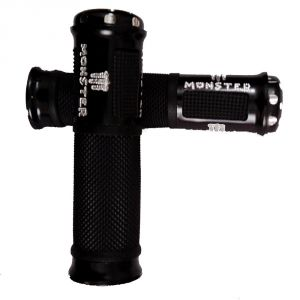 Capeshoppers Monster Designer Black Bike Handle Grip For Tvs Phoenix 125