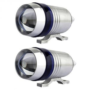 Capeshoppers U3 Headlight Fog Lamp With Lens Cree LED For Mahindra Flyte Sym Scooty
