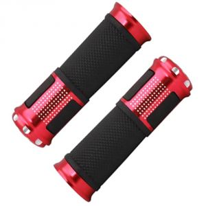 Capeshoppers Bike Handle Grip Red For Suzuki Swish 125 Scooty