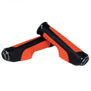 Capeshoppers Orange Bike Handle Grip For Mahindra Kine 80cc Scooty