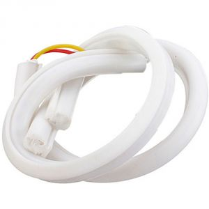 Capeshoppers Flexible 30cm Audi / Neon LED Tube For Bajaj Discover 100 T Disc- White