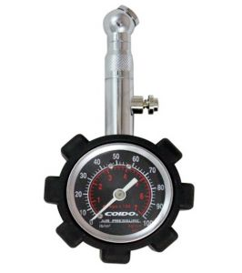 Capeshoppers Coido Metallic Pressure Guage With Analog Meter For Mahindra Rodeo Uzo 125 Scooty