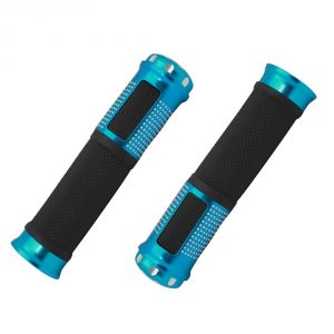 Capeshoppers Bike Handle Grip Blue For Mahindra Rodeo Uzo 125 Scooty