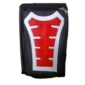 Capeshoppers Utility Big Tank Bag Red For Bajaj Pulsar 200cc Double Seater