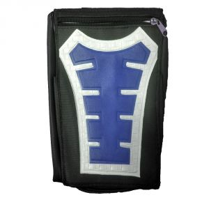 Capeshoppers Utility Big Tank Bag Blue For Bajaj Xcd 135cc