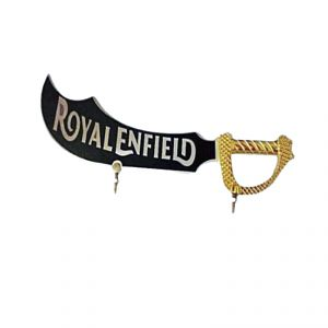 Capeshoppers Golden Sword Logo Front Mudguard For Royal Bullet Electra Twinspark