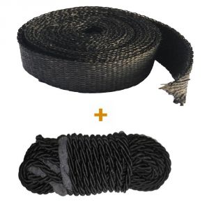 Capeshoppers Combo Of Silencer Wrap And Leggaurd Rope For Royal (classic 350)