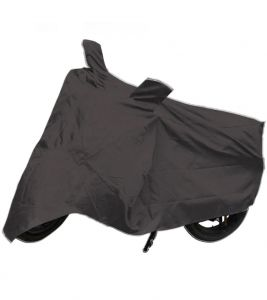 Capeshoppers Bike Body Cover Grey For Vespa Scooty