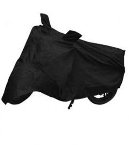 Capeshoppers Bike Body Cover Black For Tvs Wego Scooty