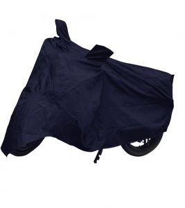 Capeshoppers Bike Body Cover Blue For Mahindra Kine 80cc Scooty