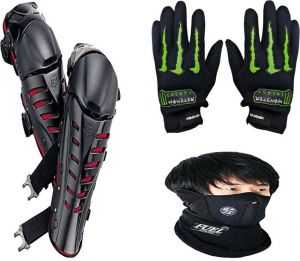 Combo Fox Knee Guard + Probiker Gloves + Face-mask