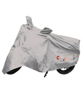 Capeshoppers New Advance Bike Body Cover Silver For Bajaj Discover 100 M Disc