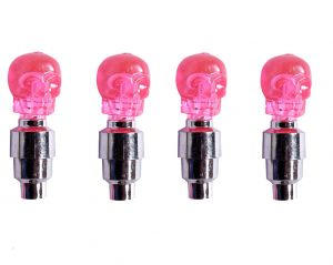 Capeshoppers Skull Car Tyre LED Motion Sensor Set Of 4for Mahindra Renault Logan