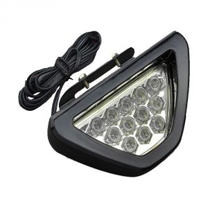 Capeshopper Red 12 LED Brake Light With Flasher For Tvs Victor Glx 125- Red
