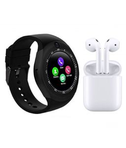Combo Of Smart Watch Y1s With Sim And Camera I7s Dual Airpod