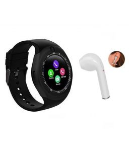 Combo Of Smart Watch Y1s With Sim And Camera Hbq I7 Bluetooth