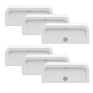 Mrbeams Mb706 Wireless Motion Sensor Mini Stick Anywhere LED Night Lights,white,6-pack