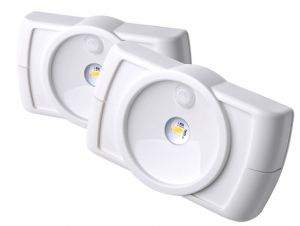 Mrbeams Mb852 Indoor Wireless Slim LED Light With Motion Sensor Features,white,2-pack