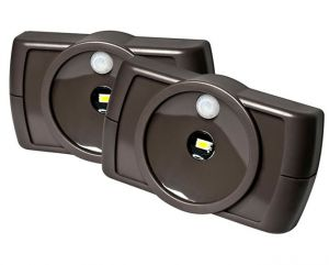 Mrbeams Mb862 Indoor Wireless Slim LED Light With Motion Sensor Features,brown,2-pack