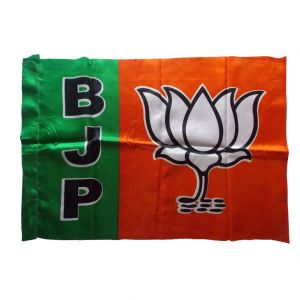 Stationery - BJP Outdoor Silk Flag by Sheela Ad Makers