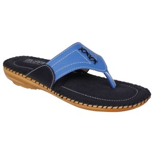 Mappy Blue Flat Slip On For Women-(product Code-1301-blue)