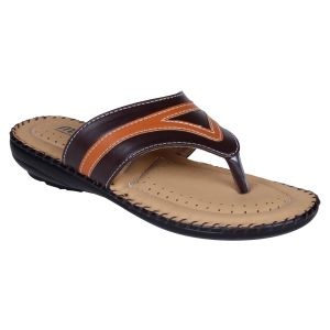 Mappy Brown Flat Slip On For Women-(product Code-1303-brown)