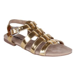 Mappy Golden Flat Sandal For Women-(product Code-1310-golden)