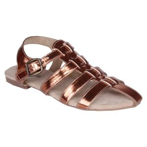 Mappy Brown Flat Sandal For Women-(product Code-1311-brown)