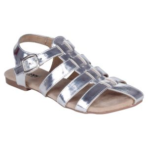 Mappy Silver Flat Sandal For Women-(product Code-1311-silver)
