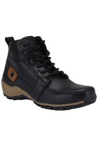 Bachini Half Ankle Boot For Men-(code-1509-black)
